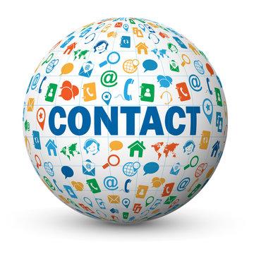 Globe - Nuage de Tags CONTACT (coordonnées service clients aide)