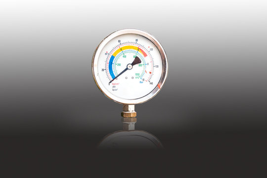 water pressure gauge isolated background