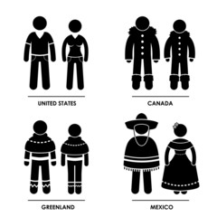 North America National Traditional Costume Clothing
