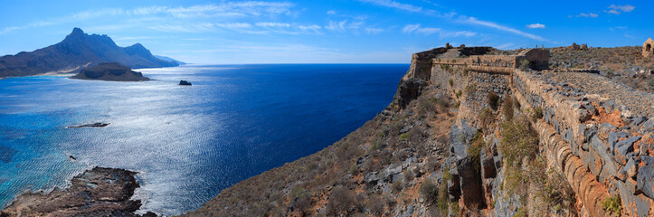 Sea view from the fortress on the island Gramvousa