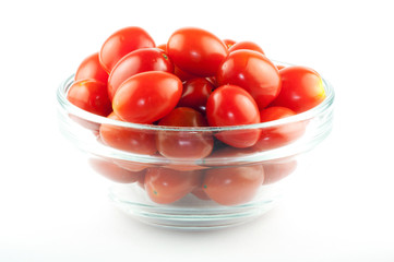 A bowl full of cherry tomatos