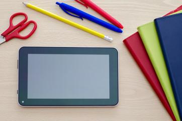 tablet pc on a Classroom Desk