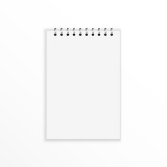 Blank notebook with blank place for text
