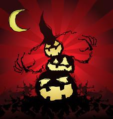 Halloween Pumpkin Scarecrow Cartoon Character