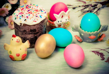 Easter Photo in retro style