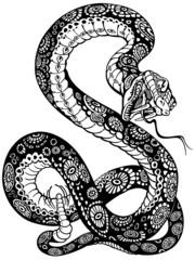 snake black white