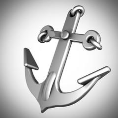metallic anchor