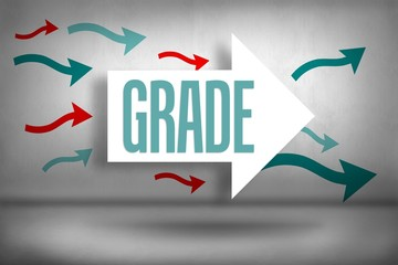 Grade against arrows pointing