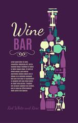 Wine pattern.