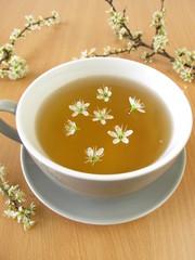Tee mit Schlehenblüten