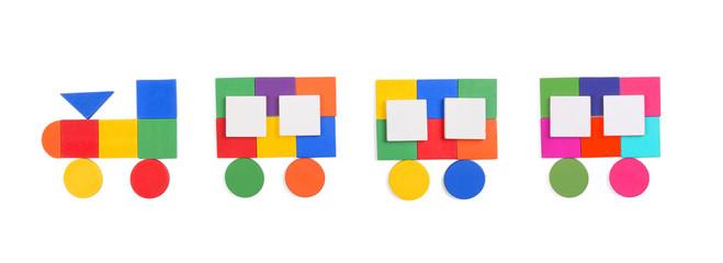 train of geometric figures