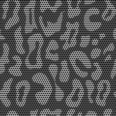 Lace seamless leopard pattern. Vector mesh.