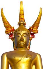 Isolates of Buddha with Naga head behind