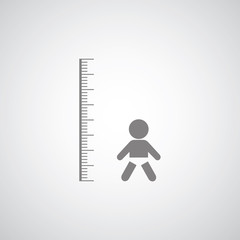 height measurement little boy symbol