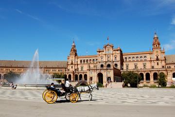 Papiers peints Palerme Seville - Plaza de España, Alcazar