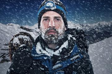 Canvas Prints Mountaineering Adventure mountain man
