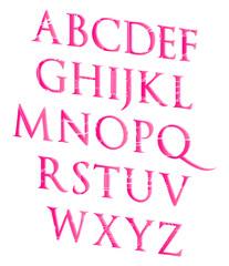 3D Valentines Day Love Alphabet Set Concept Vector