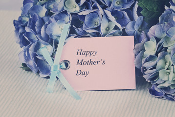 Faded Mothers Day Card and Flowers