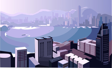 City collection, City background