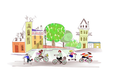 environmentally friendly traffic, bikes