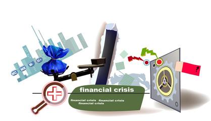 Economy crisis illustration, property concept