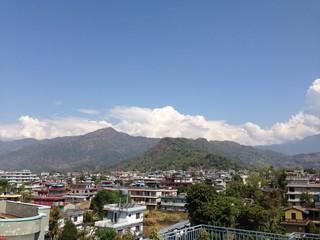 Sunny day in Pokhara, Nepal