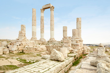 Roman temple the Amman citadel, Jordan