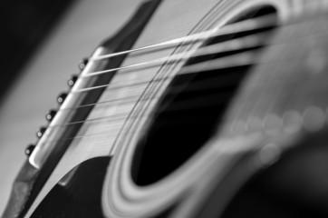 Acoustic Guitar. Black & White