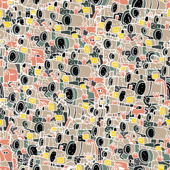 Paparazzi seamless pattern