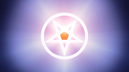 Illuminated pentagram