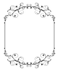 vintage frame with swirls