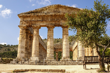 segesta archaeological site of ancient greece drills Sicily Ital