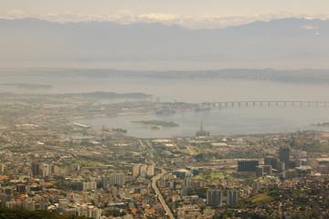 Aeriel view over Rio
