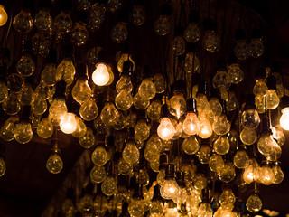 Lighting decor bulbs hanging
