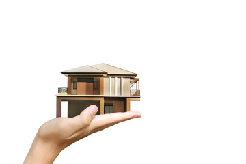 House model house concept in hand