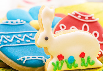easter homemade gingerbread cookies