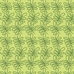 Seamless texture with leaves.Vector pattern