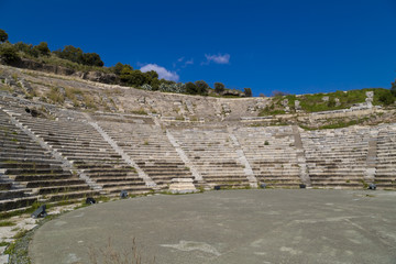 Ancient amphitheater in Bodrum, Turkey