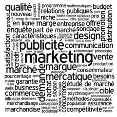"""Nuage de Tags """"MARKETING"""" (stratégie publicité communication rp)"""