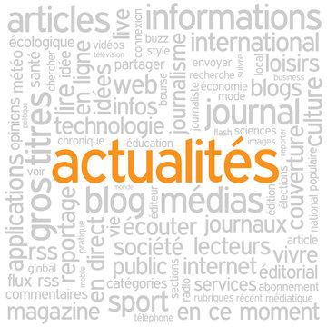 """Nuage de Tags """"ACTUALITES"""" (informations bouton médias blog)"""