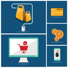icons of e-commerce symbols