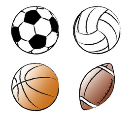 Sport balls. Vector illustration