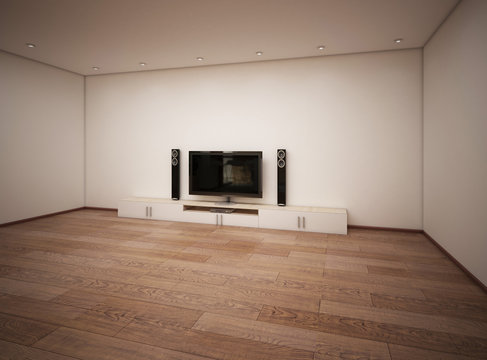 empty interior of room with TV