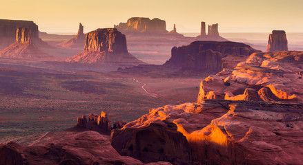 Photo sur Aluminium Bestsellers The Hunt's Mesa, american wild west, Monument Valley