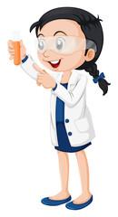 A female scientist