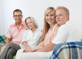 Happy family gathering portrait