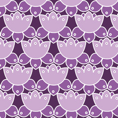 Lotus background. Seamless texture. Vector