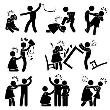 Abusive Husband Helpless Wife