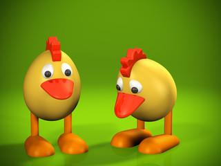 Ostern Küken Deko 2