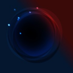 Round abstract blue red background